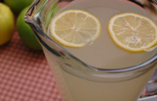 Fresh Squeezed Lemonade & Another Version…Basil Lemonade!