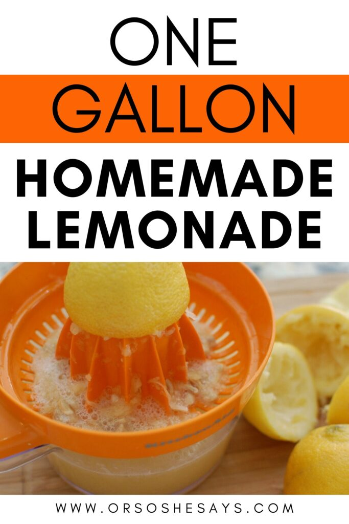 one gallon homemade lemonade