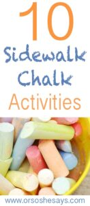 10 Activities With Sidewalk Chalk