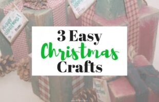 For Holiday decor, look no further! On the blog today, 3 Christmas crafts that are SO EASY and cute. www.orsoshesays.com #christmas #decor #DIY #crafts