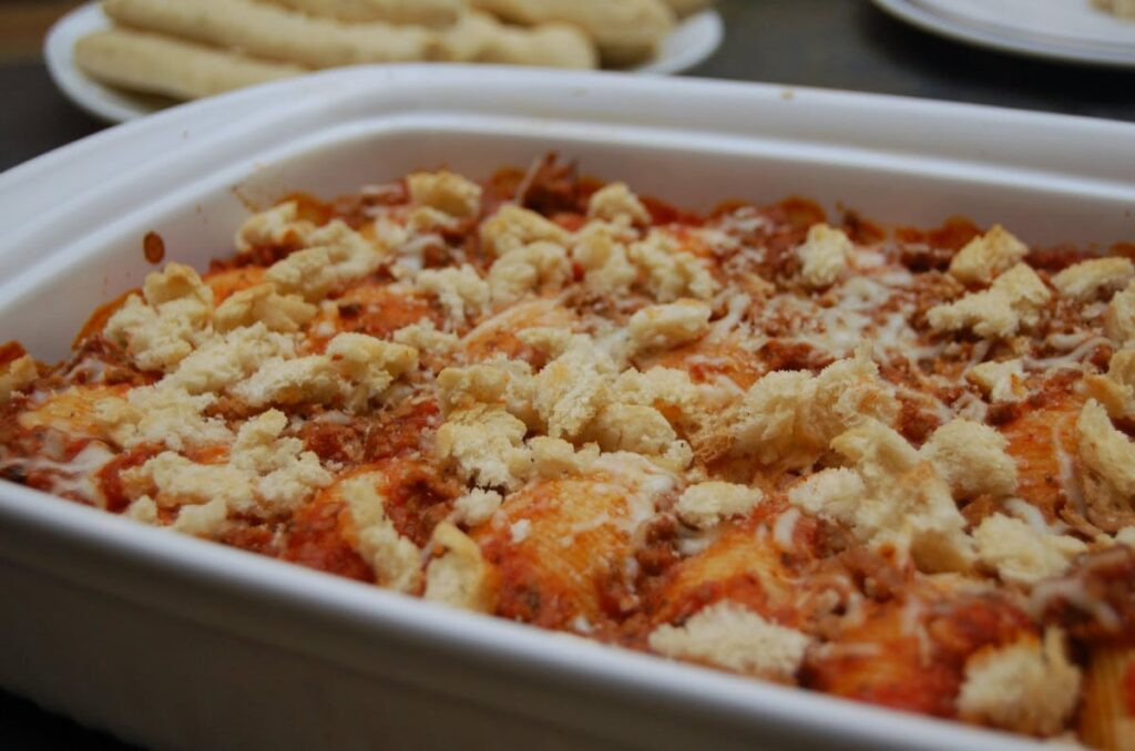 Italian Stuffed Shells with Ground Beef
