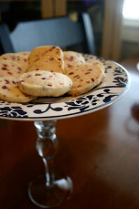 Plate Pedestal Craft & Cranberry Orange Shortbread Cookies