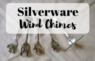 DIY your own silverware wind chimes! www.orsoshesays.com #diy #windchimes #silverwarewindchimes #homedecor #crafty