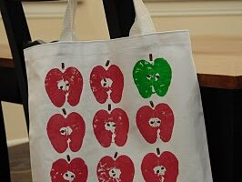 Apple Stamp Library Bag Craft (she: Mandy)
