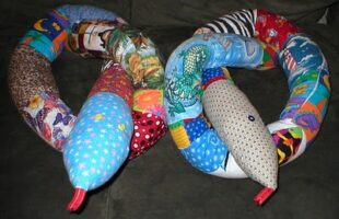 Giant Snake Made From Scrap Fabric (she: Fun On A Dime Lady)