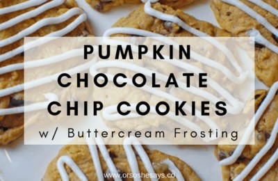 Chocolate Chip Pumpkin Cookies with Buttercream Frosting
