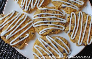 Chocolate Chip Pumpkin Cookies with Buttercream Frosting ~ My Favorite Cookie!
