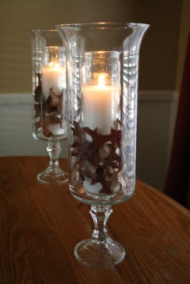 DIY Glass Hurricane inspired by Williams Sonoma. Get the how-to on www.orsoshesays.com #DIY #homedecor #williamssonoma