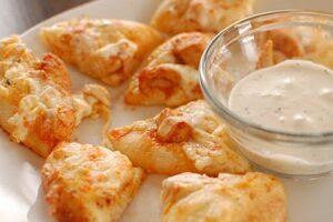 Caden's Buffalo Chicken Mini-Pizzas ~ Great Super Bowl Appetizer!