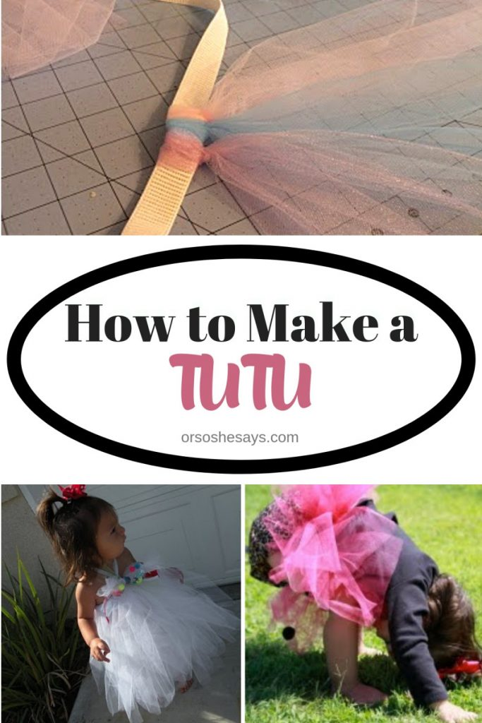 Easy instructions for how to make a tutu today on the blog: www.orsoshesays.com #diy #tutu #homemade #costumes #halloween #ballerina #dance #ldsblogger #lds #mormonblogger #mormon