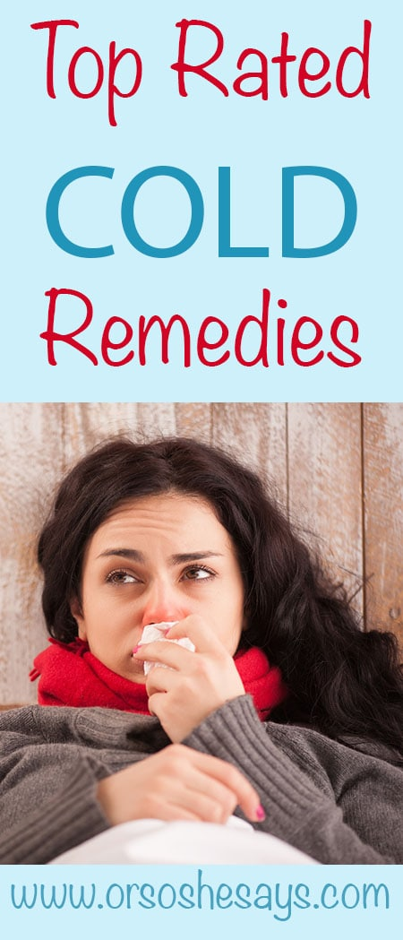 Top Rated Cold Remedies!