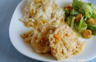 Crock Pot Pork Chops & Feta Hashbrown Casserole ~ Easy Easter Dinner!