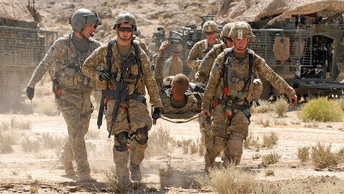 Soldier evacuation