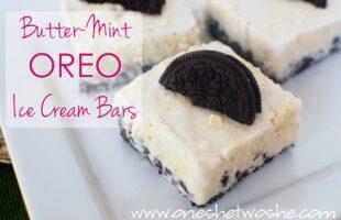 Butter-Mint Oreo Ice Cream Bars