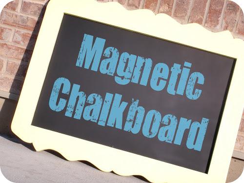 Magnetic Chalkboard Tutorial (she: Jesseca)