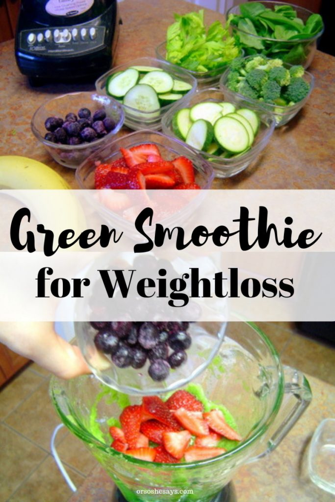 Help meet your health goals with this green smoothie! orsoshesays.com #greensmoothie #saladshake #mealreplacement #weightloss #newyearsresolution