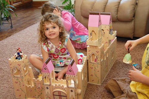 3 Year Old Girls As You Can See Above Her Main Birthday Present Was This Princess Castle