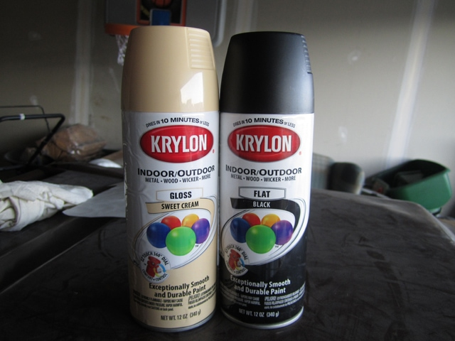 to use krylon s flat black spray paint for the base of the project. Black Bedroom Furniture Sets. Home Design Ideas