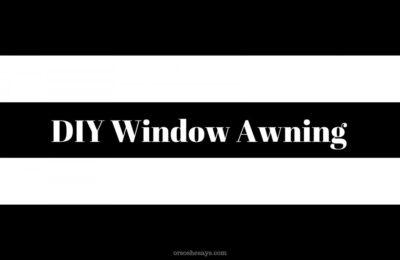DIY window awning on orsoshesays.com #parisian #windowawning #diy #diywindowawning #parisiandecor #paris #parisdecor #frenchdecor #roomdecor