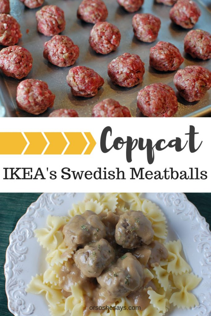 "I saw a ""perfect knock-off"" recipe in the latest Food Network Magazine, I had to try them.  Although, I can't attest to their authenticity (since I've never eaten at IKEA), I can tell you that my family loved them. Get my method on www.orsoshesays.com"