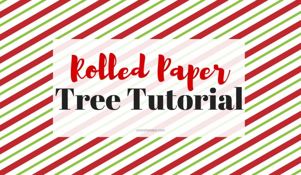 Using scraps of wrapping paper, you can whip up a rolled paper tree in minutes! Attach to decorative paper and insert into a frame, and voila! You're done! www.orsoshesays.com #christmas #christmastree #DIY #rolledpapertree #crafts #decor #merrychristmas
