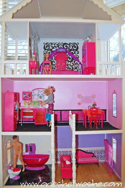 6 Hour Doll house Remodel ~ Barbie Doll House - Or so she says
