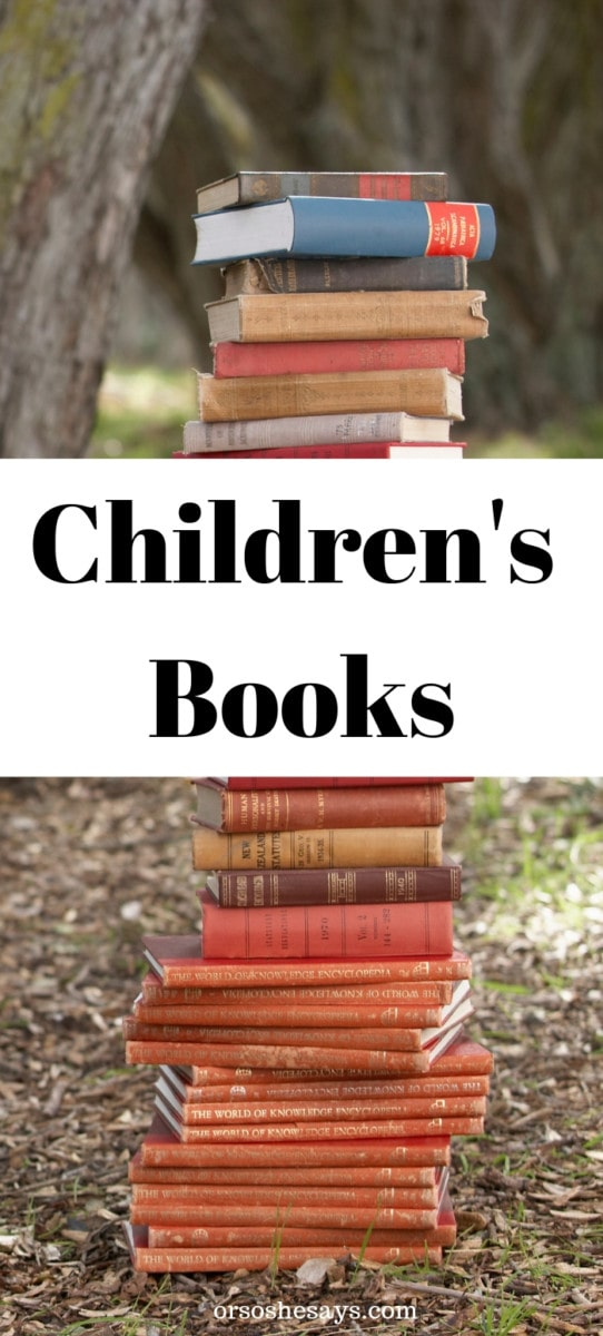 Children's books make great Valentine's day gifts for kids! A mother of six explains this fun family tradition and gives great book ideas for each age. #childrensbooks #booksforkids #OSSS orsoshesays.com
