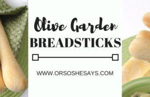 Copycat Olive Garden breadsticks recipe on www.orsoshesays.com #copycatrecipe #olivegarden #olivegardenbreadsticks #recipe #osss #osssfeedthefamily