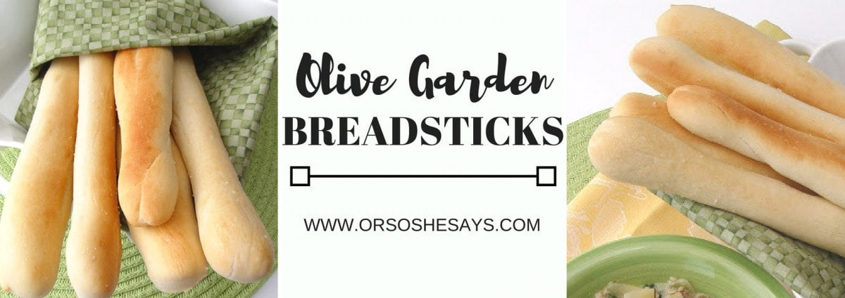 Copycat Olive Garden breadsticks recipe on www.orsoshesays.com #copycatrecipe #olivegarden #olivegardenbreadsticks #recipe #osss #osssfeedthefamily