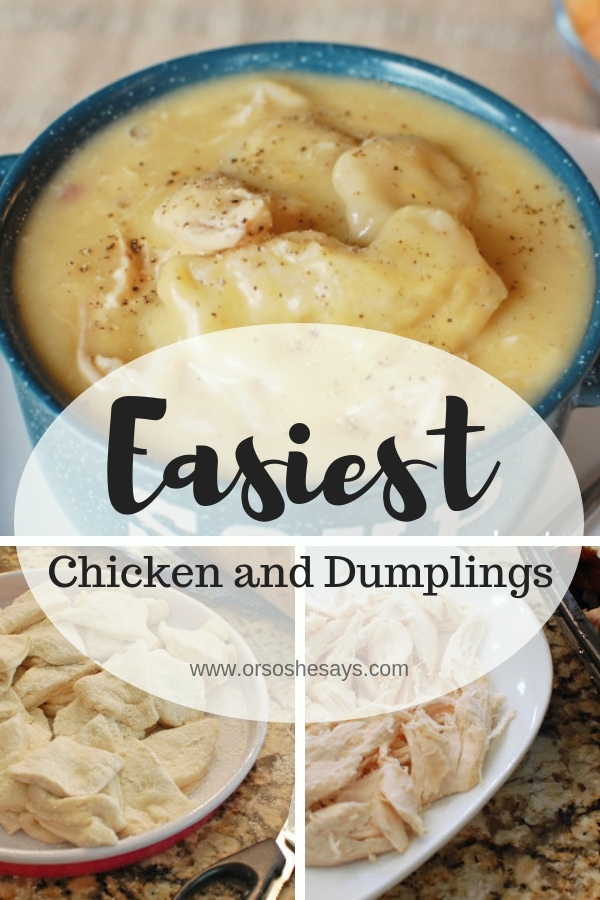 Check out the blog for the EASIEST chicken and dumplings recipe that's perfect for Autumn. www.orsoshesays.com