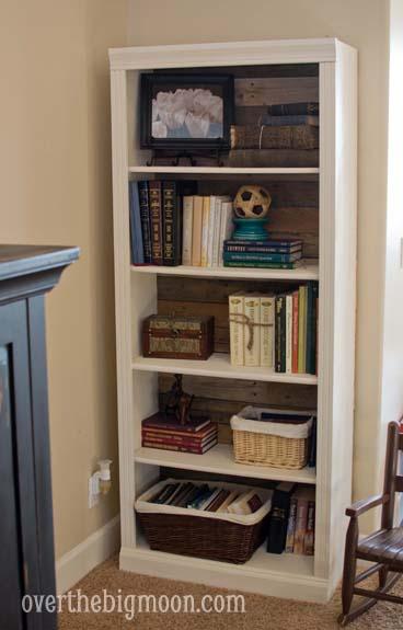 DSC 0074 Pallet Backed Bookshelf