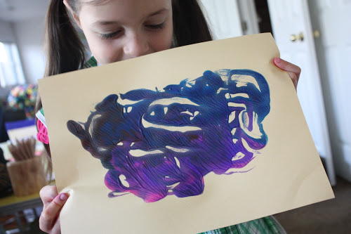 Finger Painting Prints ~ An Easy Activity for Kids! (she: Arianne)