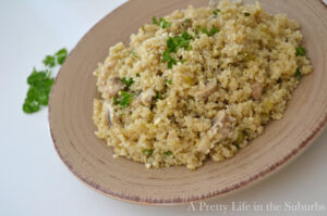 Mushroom and Herb Quinoa (she: Jo-Anna)