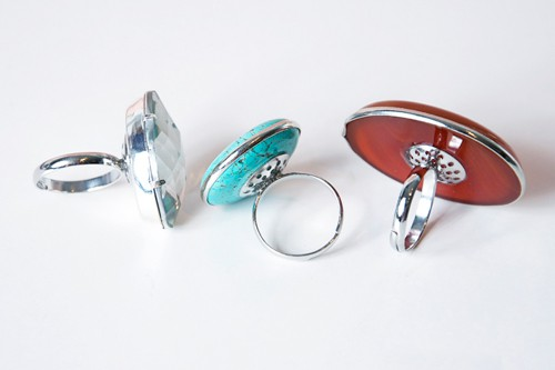 diy oversized cocktail rings cheap easy awesome