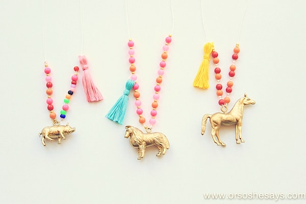 Animal Necklaces ~ Crafts for Kids
