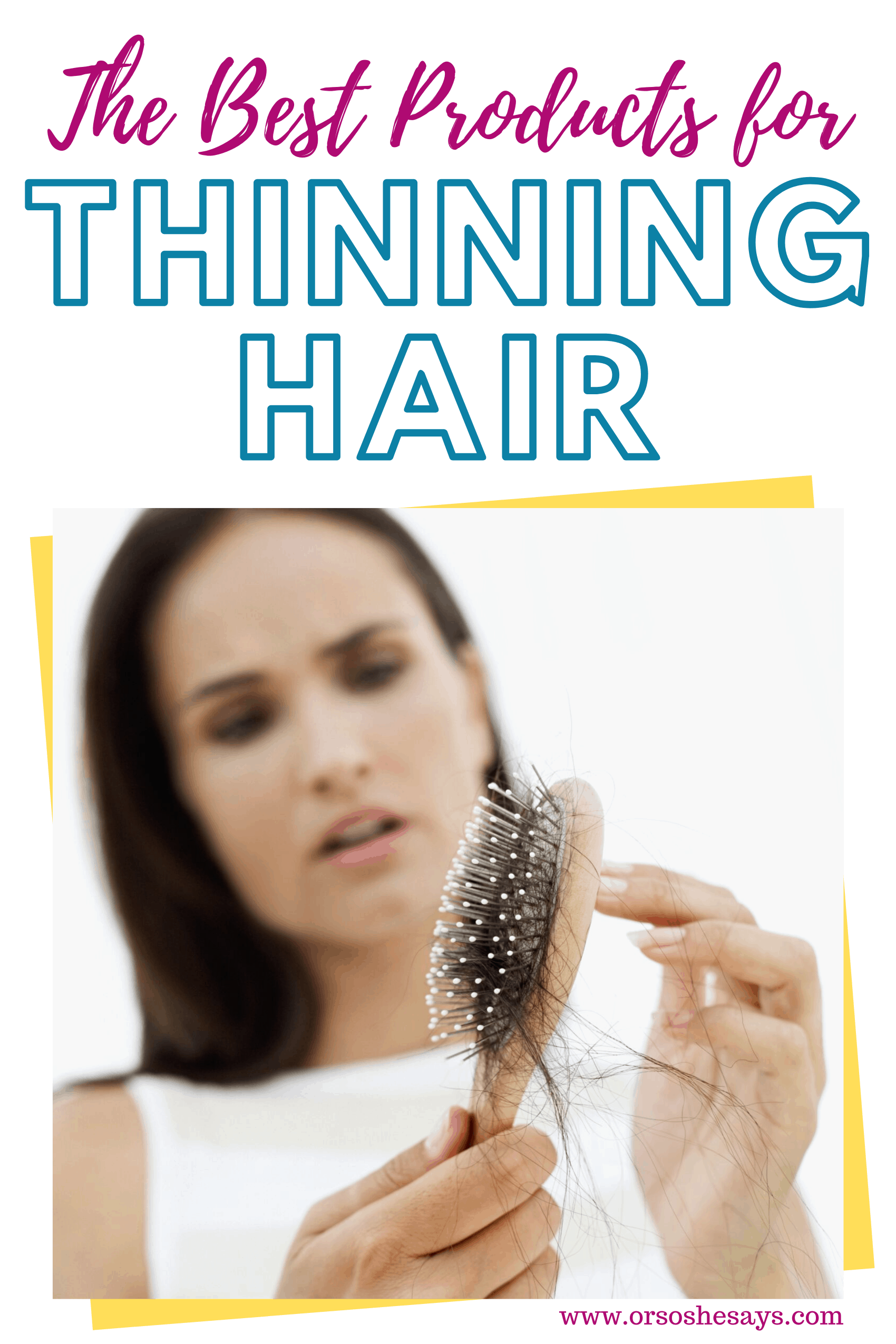 products for thinning hair