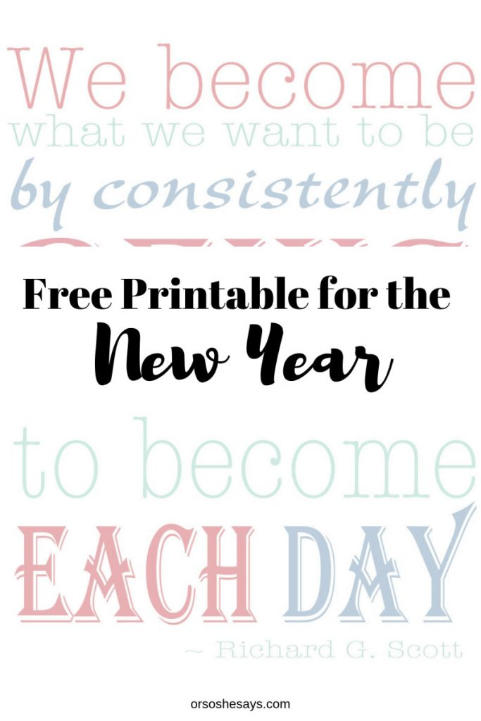 New Year printable on orsoshesays.com #newyear #happynewyear #newyearsresolution #qotd