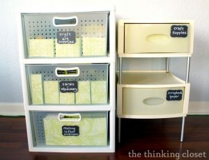 Craft Drawer Organization for the Budget Savvy (she: Lauren)