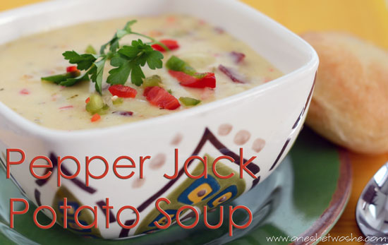 Pepper jack potato bacon soup or so she says adapted from the food nanny rescues dinner feeds about 10 adults fills a large pot forumfinder Image collections