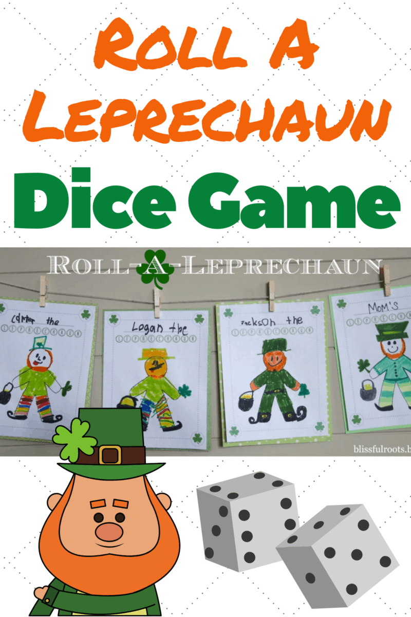 Roll-a-Leprechaun Game for Kids on St. Patrick's Day