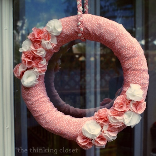 Spring Wreath Tutorial by The Thinking Closet