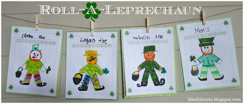 Roll-A-Leprechaun Game ~ Fun St. Patrick's Day Activity! (she: Brooke)