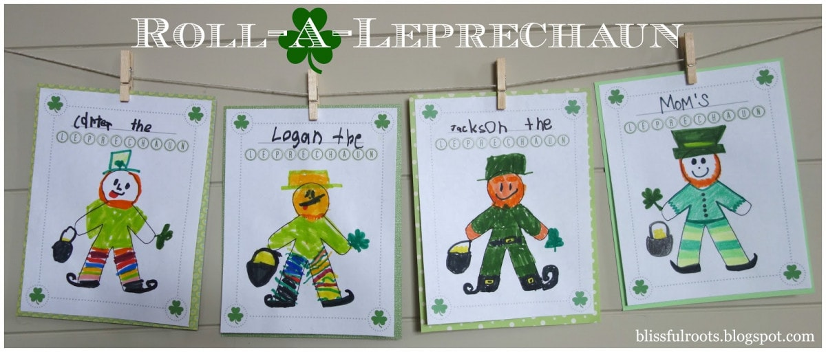 Roll-a-Leprechaun St. Patrick's Day Activity