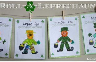 Roll-A-Leprechaun Game ~ Fun St. Patrick's Day Activity! (she: Brooke)