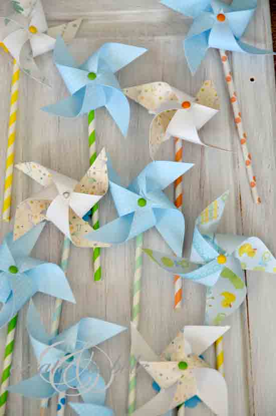 DIY Paper Pinwheels ~ Adorable Baby Shower Decoration! (she ...