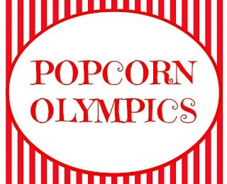 Popcorn Olympics ~ fun party or family activities! www.oneshetwoshe.com