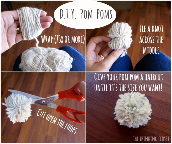 D.I.Y. Pom Poms - Visual Tutorial | The Thinking Closet