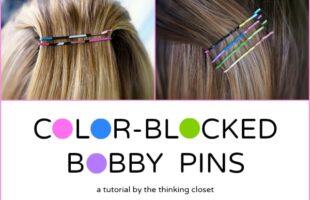 Color-Blocked Bobby Pin Tutorial (she: Lauren)
