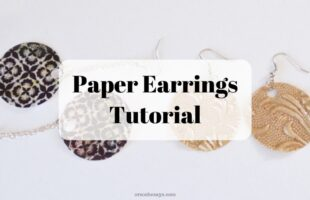 Paper earring tutorial on www.orsoshesays.com #paperearrings #DIYearrings #jewels #jewelry