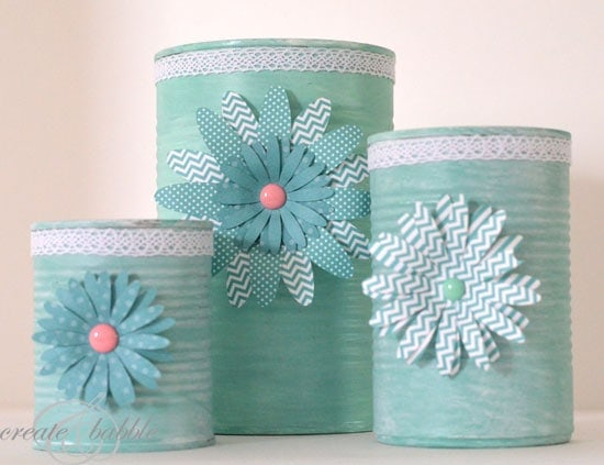 Upcycled tin can craft she jeanie or so she says for Tin cans for crafts